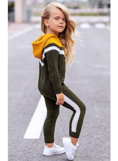 Riccotarz Kız Çocuk Triko Yeşil Sarı Alt Üst Takım Renkli